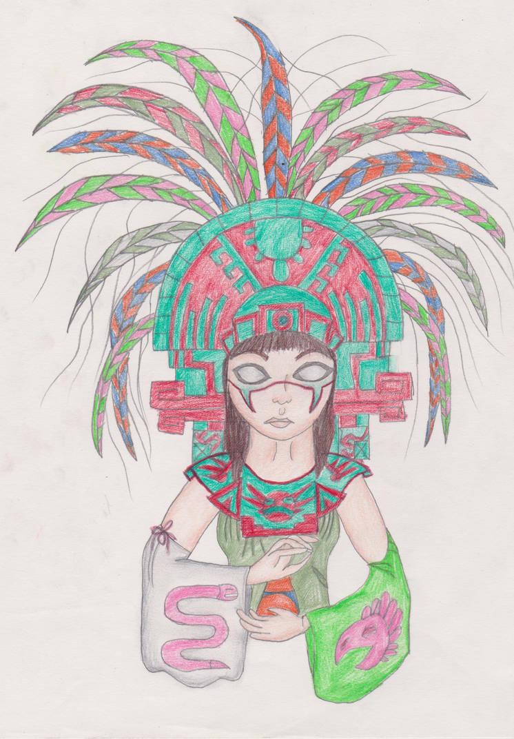 Dibujos Aztecas Color 001 By Cararnvandrell On Deviantart