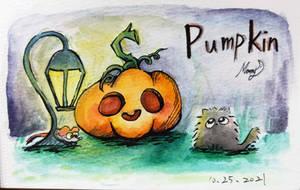 Water color pumpkin