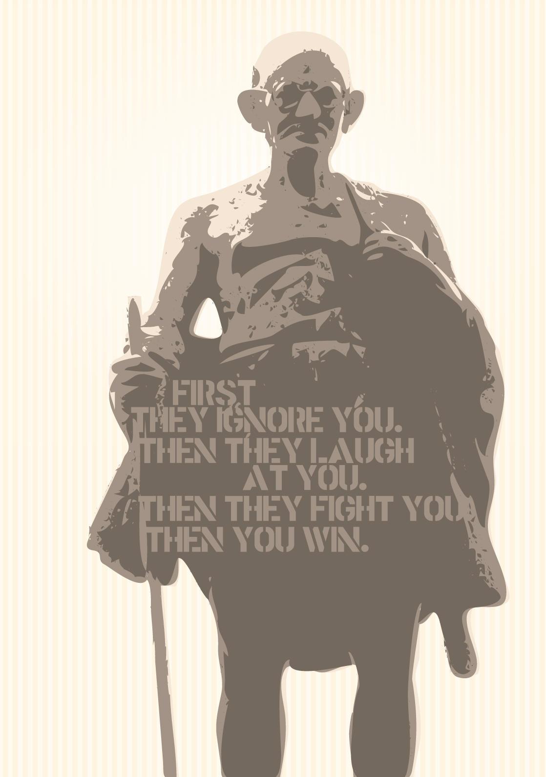 Gandhi by bratprat