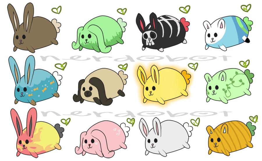 Adoptable Bunnies Set.1 by Nerdobot