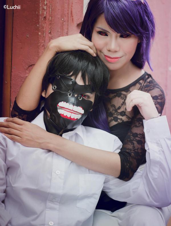 Tokyo Ghoul - Ken Kaneki and Rize Kamishiro 1 by luchia-28