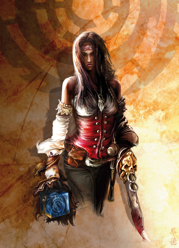 Female pirate art