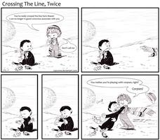 DW- Crossing the line, twice by caycowa