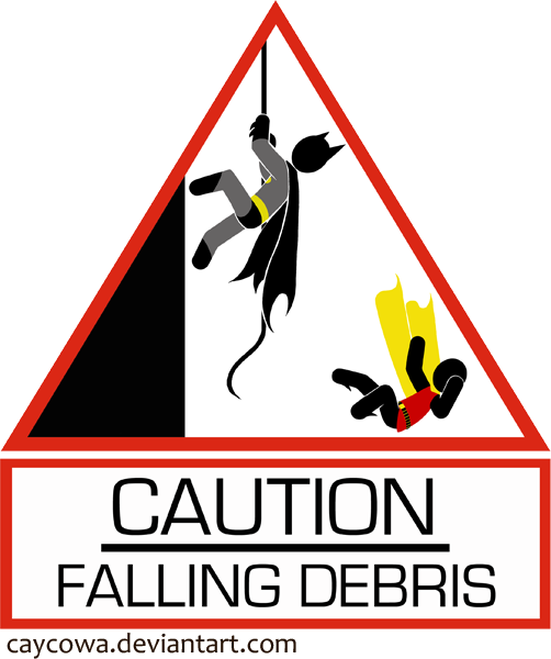 Caution: Falling Debris by caycowa