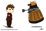 Rory and Dalek chibis