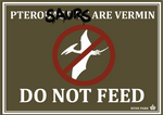 Pterosaurs are vermin sign