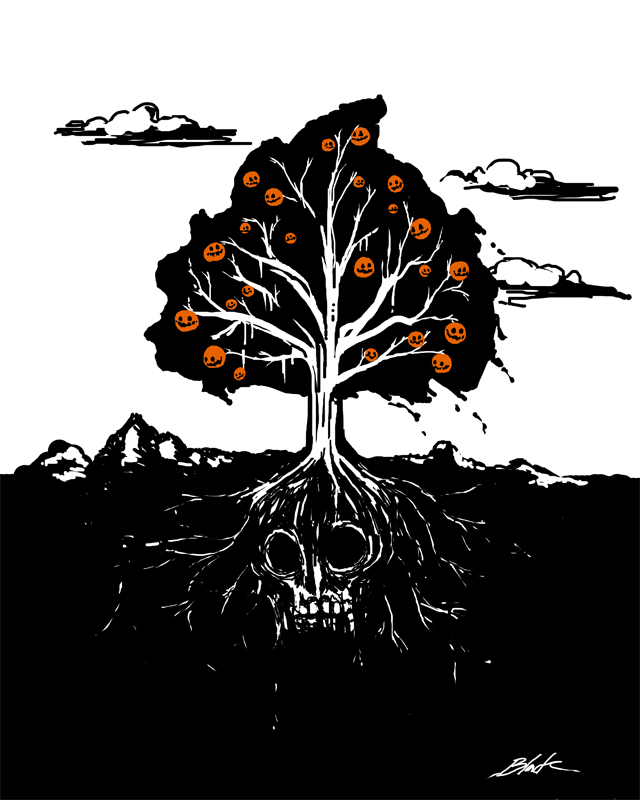 The Halloween Tree by caycowa on DeviantArt