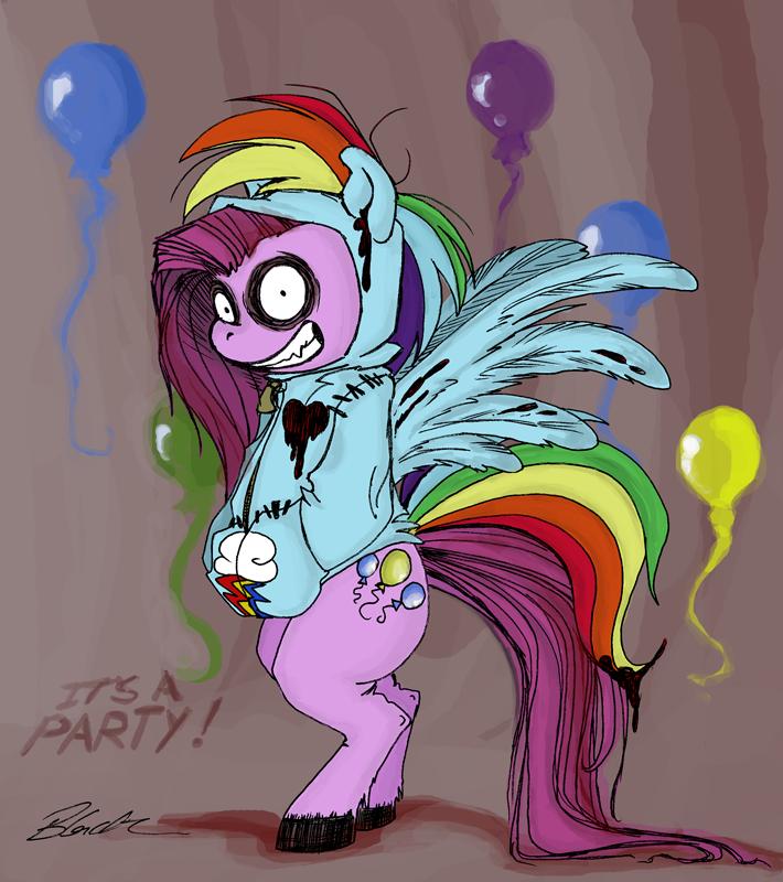 MLP - Rainbow Dash Hoodie by caycowa