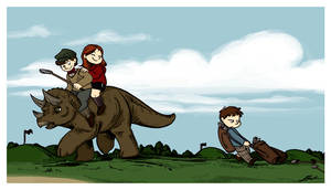 DW - Dinosaurs on a golf course