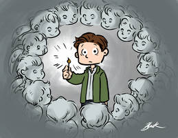 Doctor Who - Rory vs Baby Angels by caycowa