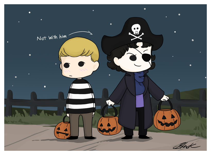 Sherlock and John - We're Pirates! by caycowa