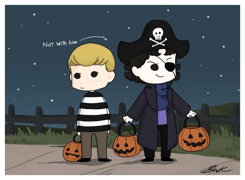 Sherlock and John - We're Pirates! by caycowa