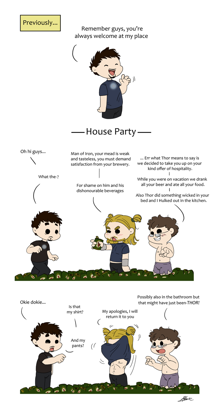 Avengers - House Party by caycowa