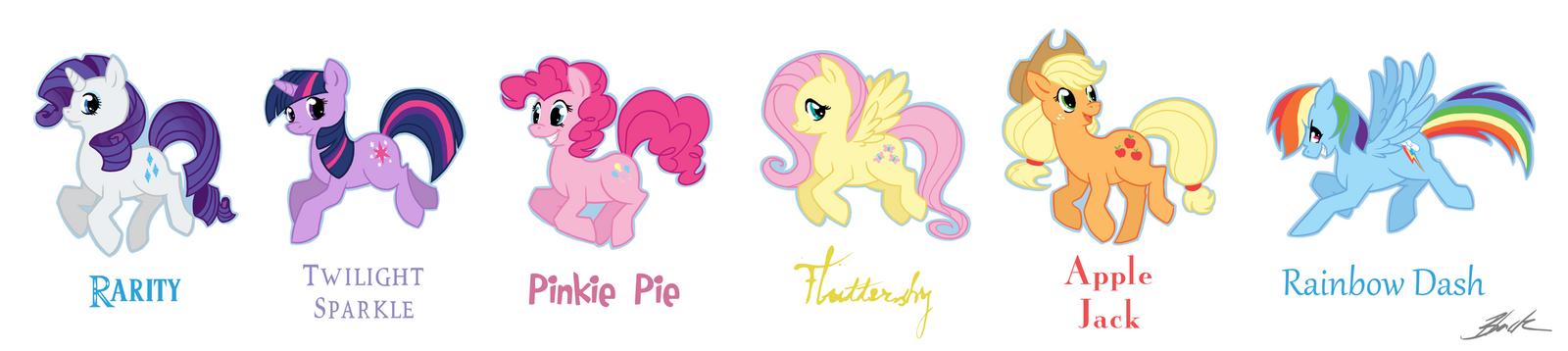 My Little Pony - Mane Six by caycowa