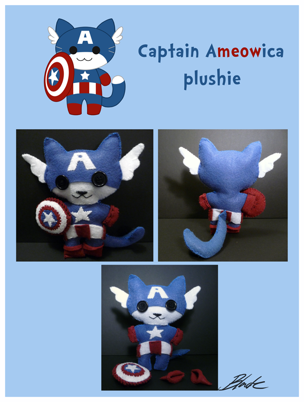 Captain Ameowica Plushie by caycowa