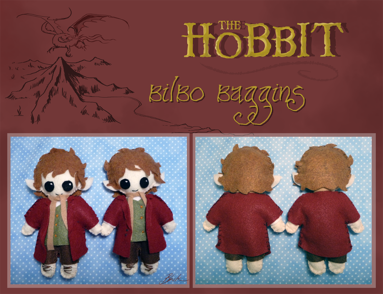 The Hobbit - Bilbo Baggins plushie by caycowa