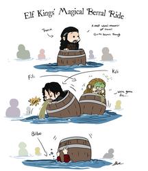 Hobbit - Elf Kings' Magical Barrel Ride