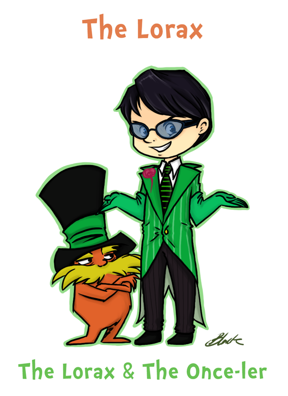 The Lorax and The Once-ler by caycowa