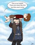 Hobbit - Thorin picks up Bilbo