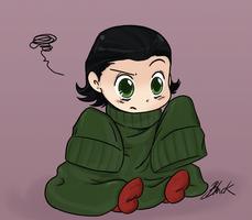 Loki Vs the Sweater. by caycowa