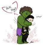 Avengers - Hulk Hug Loki
