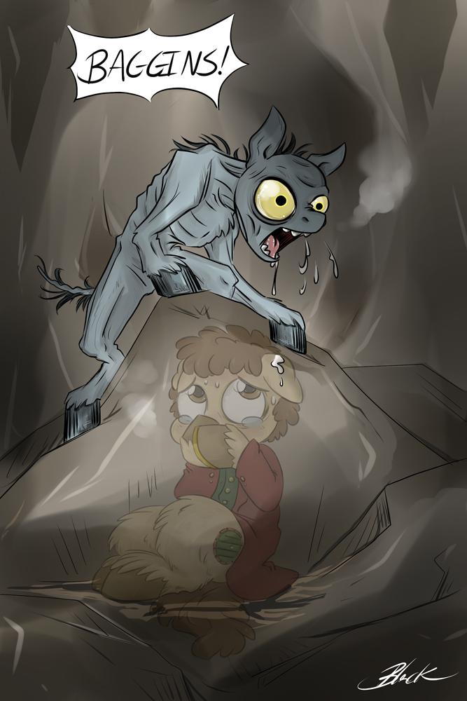 MLP - Bilbo meets Gollum by caycowa