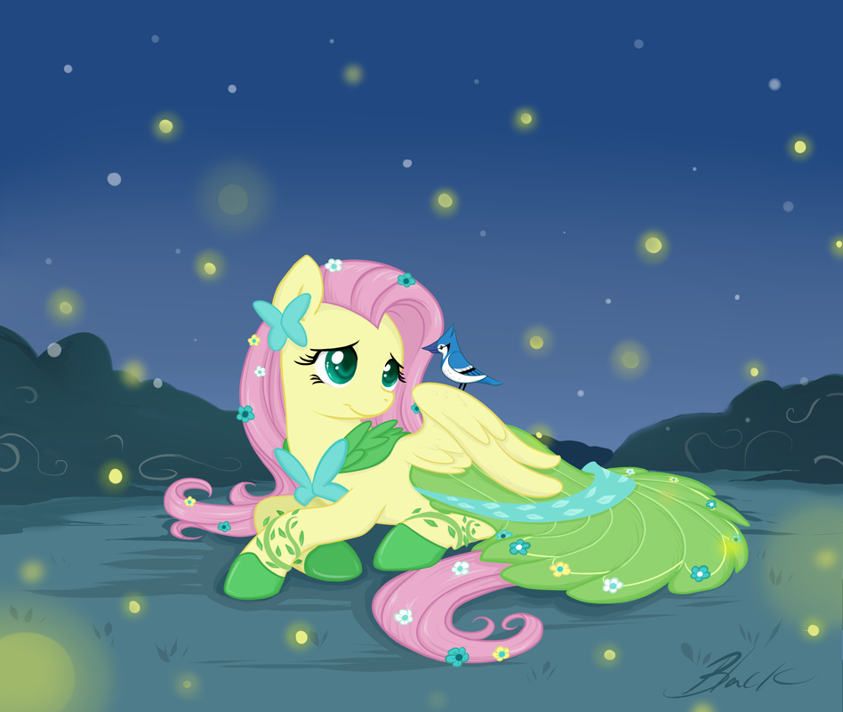 MLP - Fluttershy Gala revisited by caycowa
