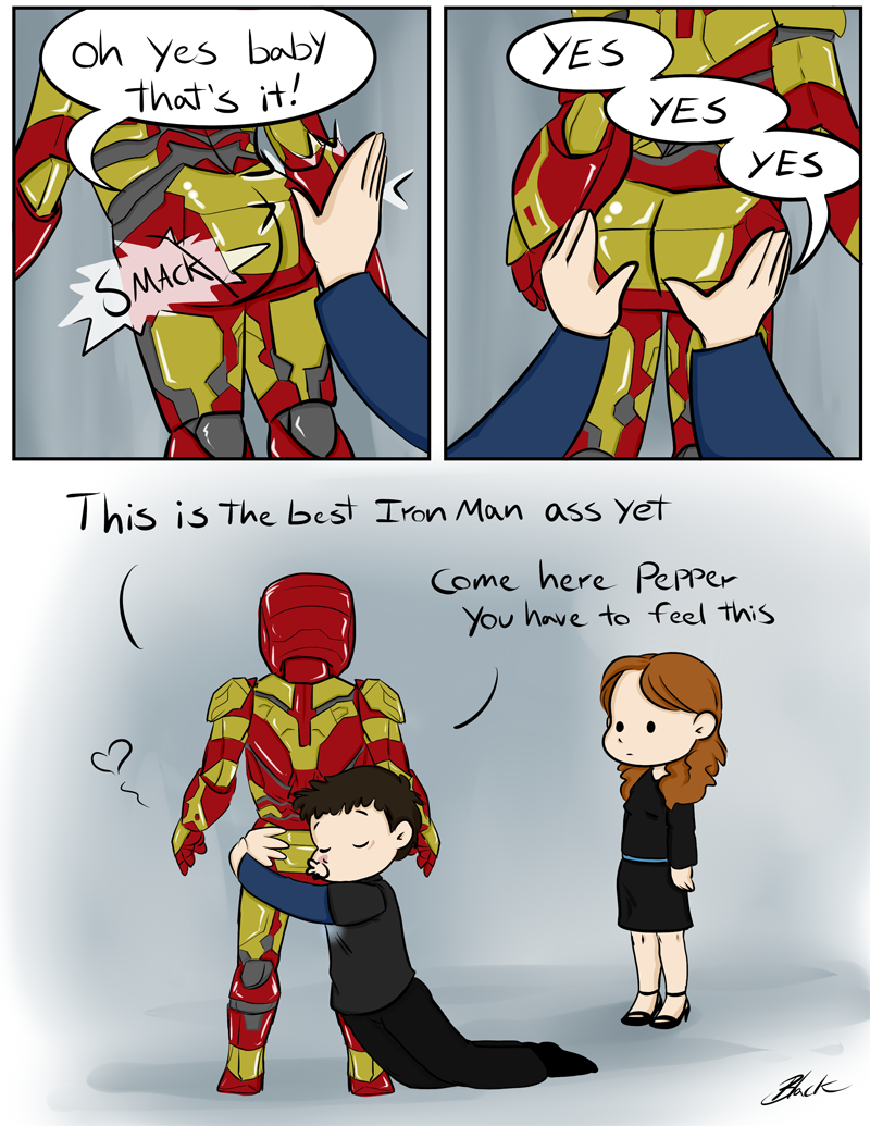 Iron Man 3 - Dat Ass by caycowa