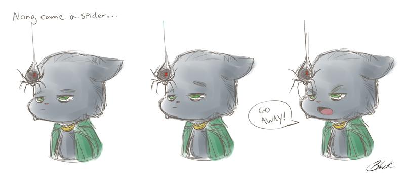 Lokitty - Along came a spider... by caycowa