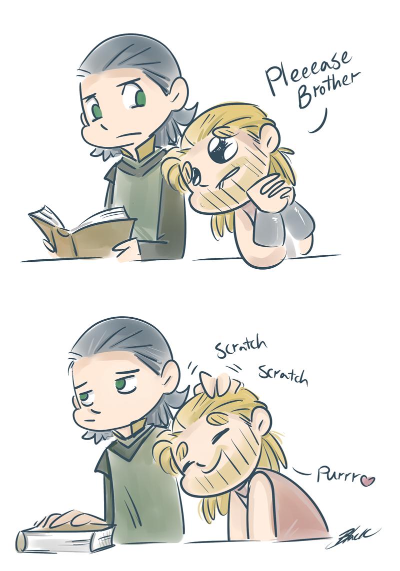 Thor and Loki - Pets by caycowa