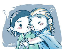 Thorki - Hugs by caycowa