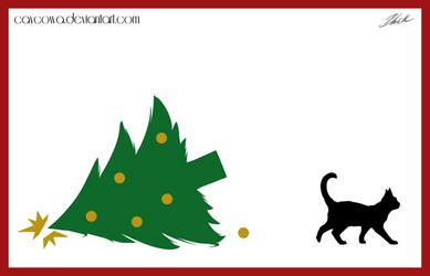 Christmas cat card 2013 - Bad kitty