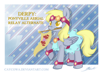 MLP - Derpy the Olympian by caycowa