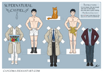 Supernatural - Castiel paper doll