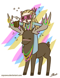 Hobbit - Party Thranduil by caycowa
