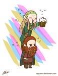 LOTR - Party Legolas and Gimili