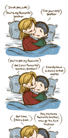 Thor/Loki Week - Day 4: Platonic Relationship by caycowa
