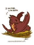 The Hobbit - Chibi Smaug I am Fire, I am Death