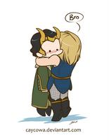 Bro - Agent Loki and Thor by caycowa