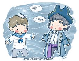 BBC Sherlock - Pirate John and Sherlock by caycowa