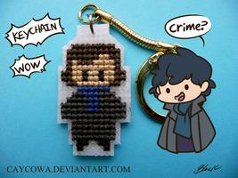 BBC Sherlock-Sherlock Holmes cross stitch keychain