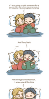 Thorki - Threesome with Captain America
