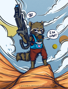 GotG - Rocket Raccoon and Baby Groot