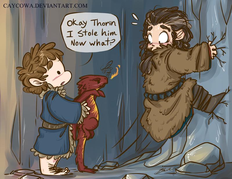 Hobbit bilbo the dragon burglar by caycowa