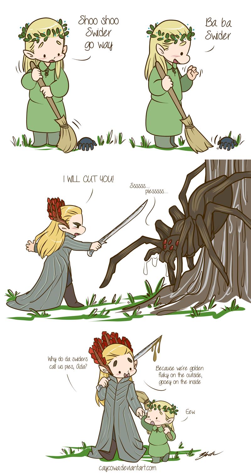 Hobbit - Legolas and Thranduil vs Mirkwood Spiders by ...