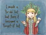 Hobbit LotR - Thranduil To-Do List