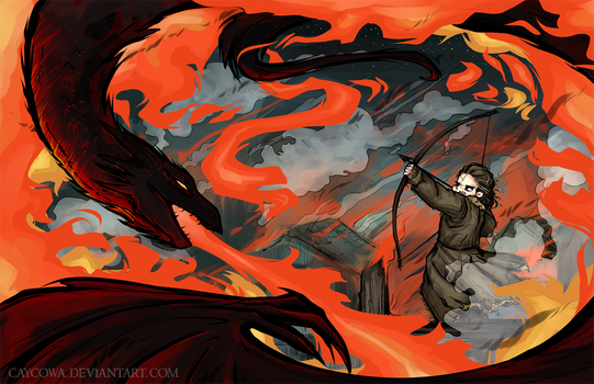 Hobbit - Fire and Water - Bard vs Smaug