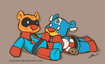 Bucky Bear and Captain Abearica