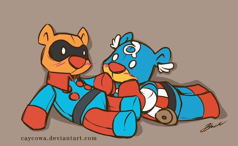 Bucky Bear and Captain Abearica