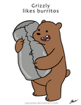 We Bare Bears - Grizzly likes Burritos